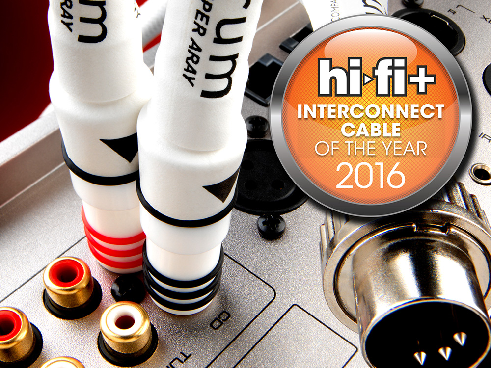 Chord Sarum - Hi-Fi Plus Magazine cable of the year 2016 - The Chord