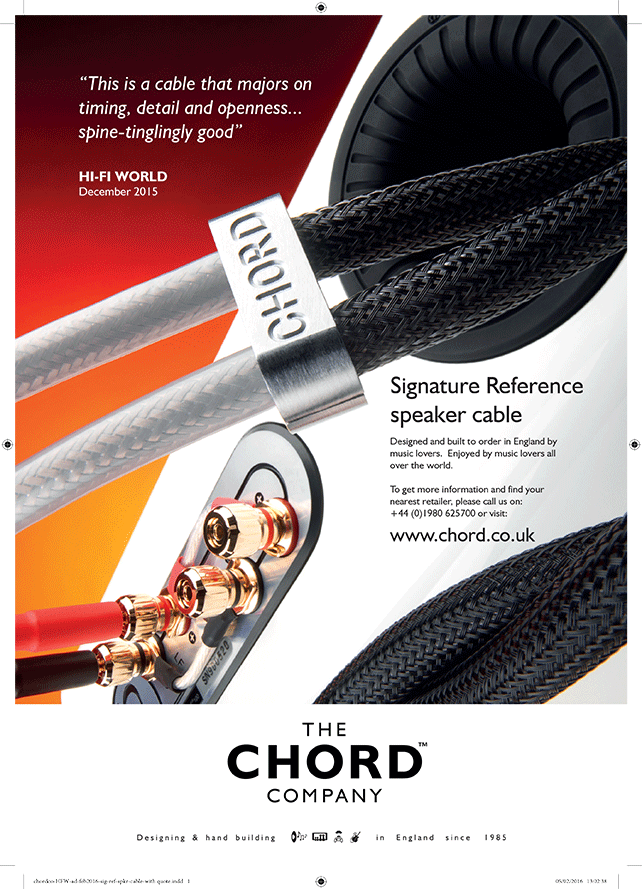 Advertisement: Hi-Fi World – Chord Signature Reference speaker cable