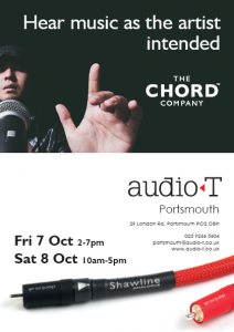 Chord Company Event: Audio T Portsmouth 7-8 Oct