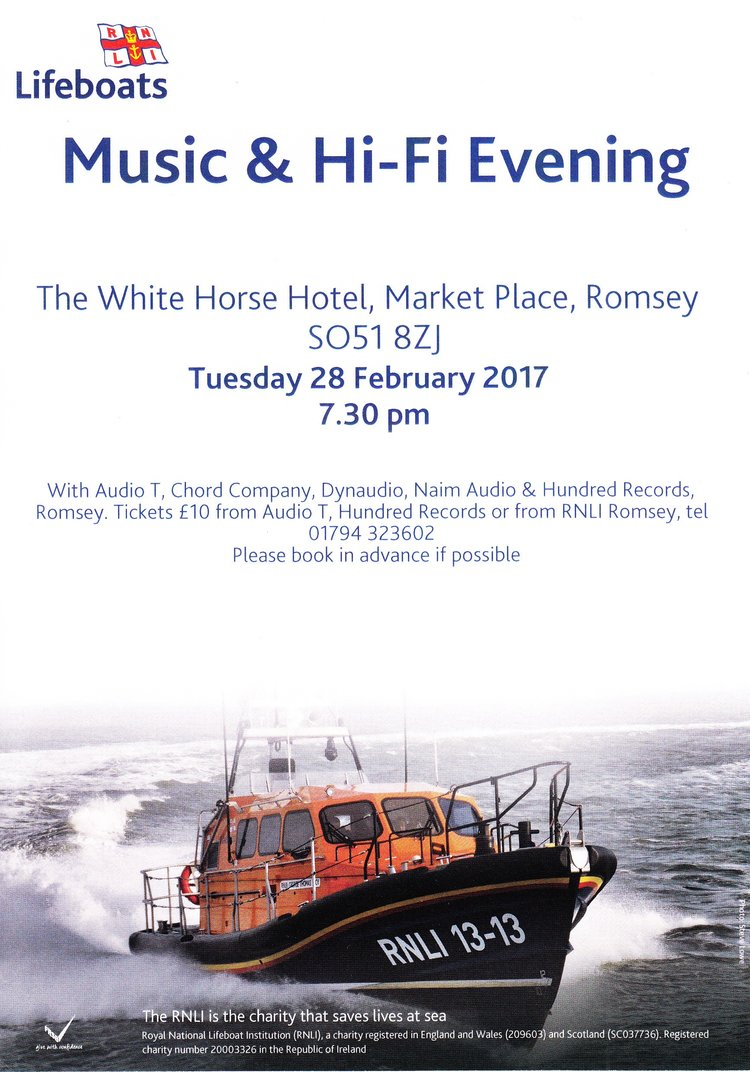 Audio T Southampton RNLI charity music event – 28 Feb 2017 – Romsey, UK