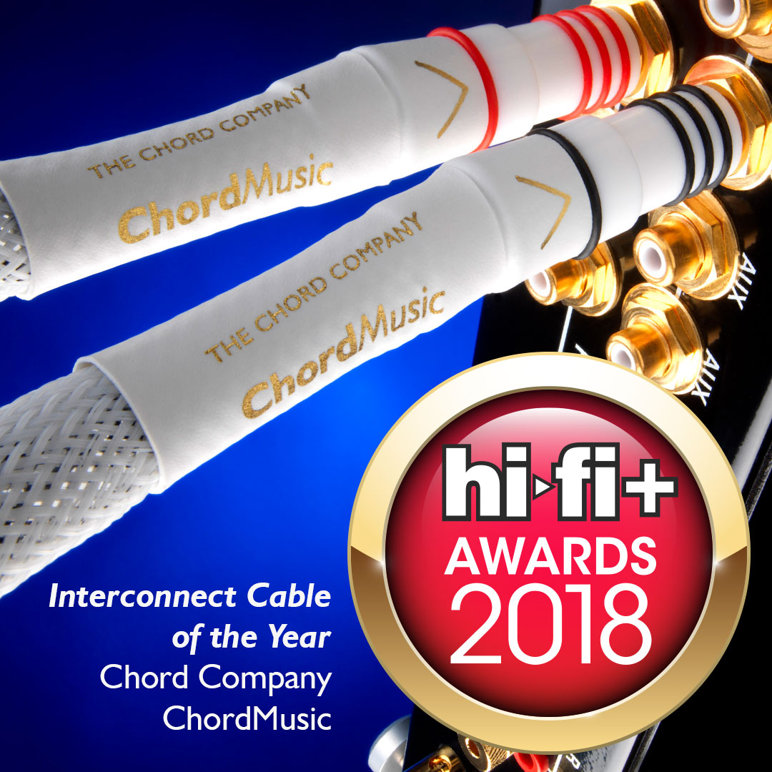 Hi-Fi+ Awards 2018 Interconnect Cable of the Year: Chord